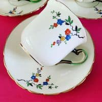 Tuscan China | Art Deco | Duo x 3 and Spares | 9 Pieces